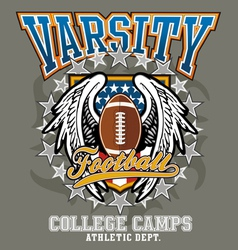american football college vector image