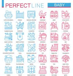 baby care toys kid feeding concept symbols vector image