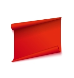 Isolated red sticker vector image