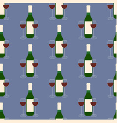 wine and glasses pattern vector image