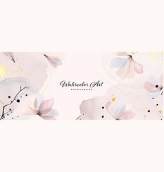 Abstract background watercolor gentle pink flower vector