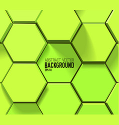 abstract green geometric template vector image