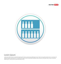 alcohol bar icon - white circle button vector image