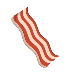 Bacon strip icon vector