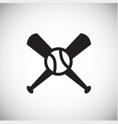 baseball on white background vector image