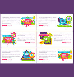 best sale with huge discount promotional banners vector image