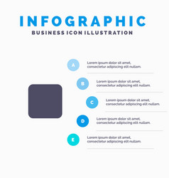 Box checkbox unchecked solid icon infographics 5 vector