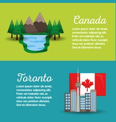 Canada flag map monument vector