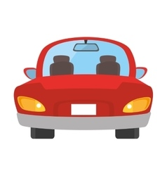 car auto front icon vector image