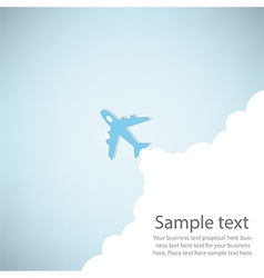 Cartoon plane launch vector