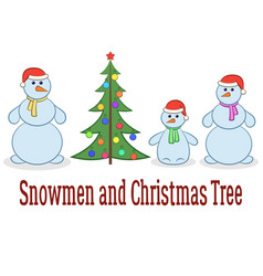 Cartoon snowman set vector