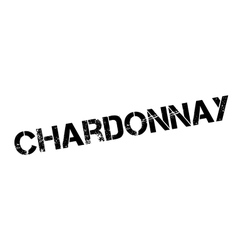 Chardonnay rubber stamp vector