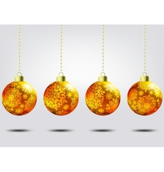 Christmas balls over elegant background EPS 8 vector image