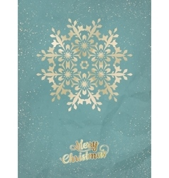 Christmas postcard with snowflake EPS 10 vector image