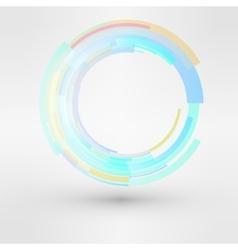 Circle looped abstract logo design template vector