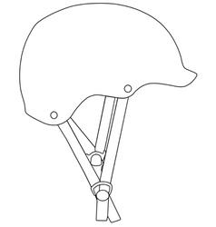 Climbing helmet vector
