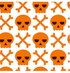 danger warning skull and bones background vector image