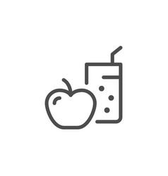 diet line icon vector image