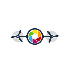 Drone camera logo icon design vector