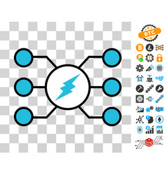 electroneum masternode links icon with bonus vector image