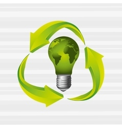 energy saving design vector image