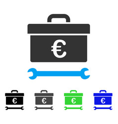 Euro toolbox flat icon vector