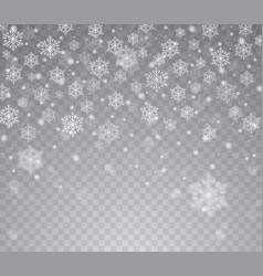 falling shining transparent snow vector image