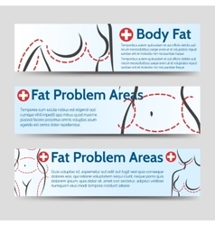 Female body fat problems areas banners vector image