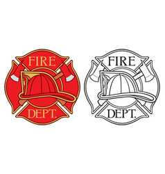 fire department or firefighters maltese cross vector image