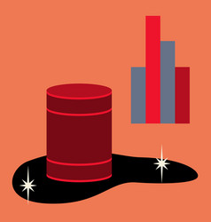 Flat icon on theme arabic business oil chart vector
