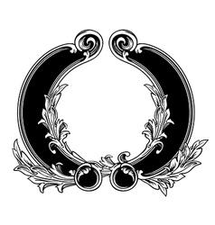 Floral label frame 18 vector image