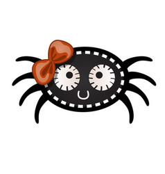 funny black spider with contours in the form of vector image