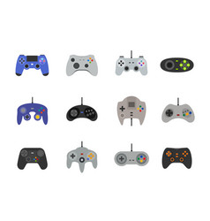 Gamepads icon set in flat style vector