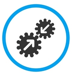 Gears Integration Circled Icon vector