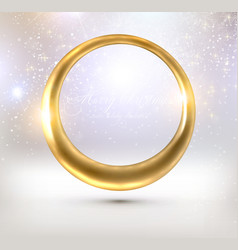Golden Christmas Frame vector