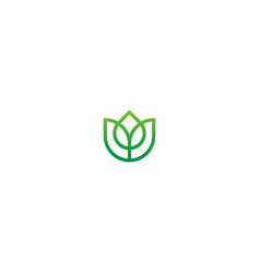 green leaf ecology organic logo vector image