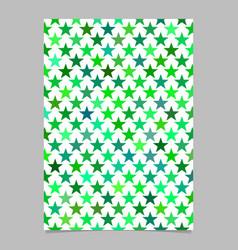 Green pentagram star shape pattern background vector