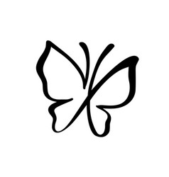 hand drawn calligraphy logo of butterfly beauty vector image