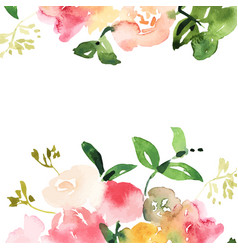 Hand drawn watercolor bouquet with place for your vector