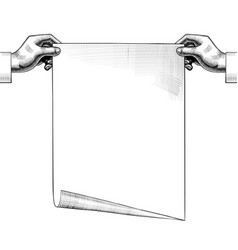 hands holding a paper sheet vector image