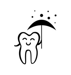 Happy tooth icon vector