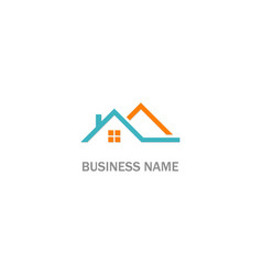 house rosign realty logo vector image