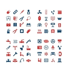House system color icons vector