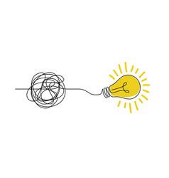 Idea doodle concept confuse to simplicity concept vector