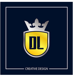 Initial letter dl logo template design vector