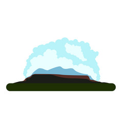 isolated landscape image vector image
