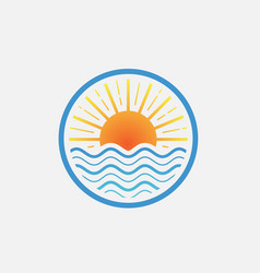 lake logo design vector image