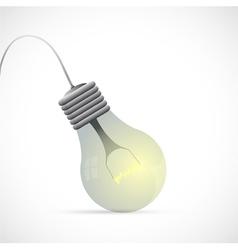 Lamp bulb cartoon vector image