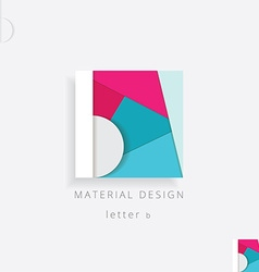 letter B colorful design element vector image