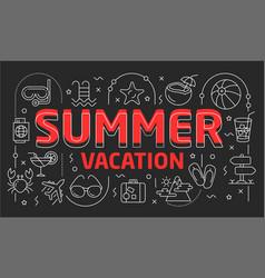 linear summer vector image